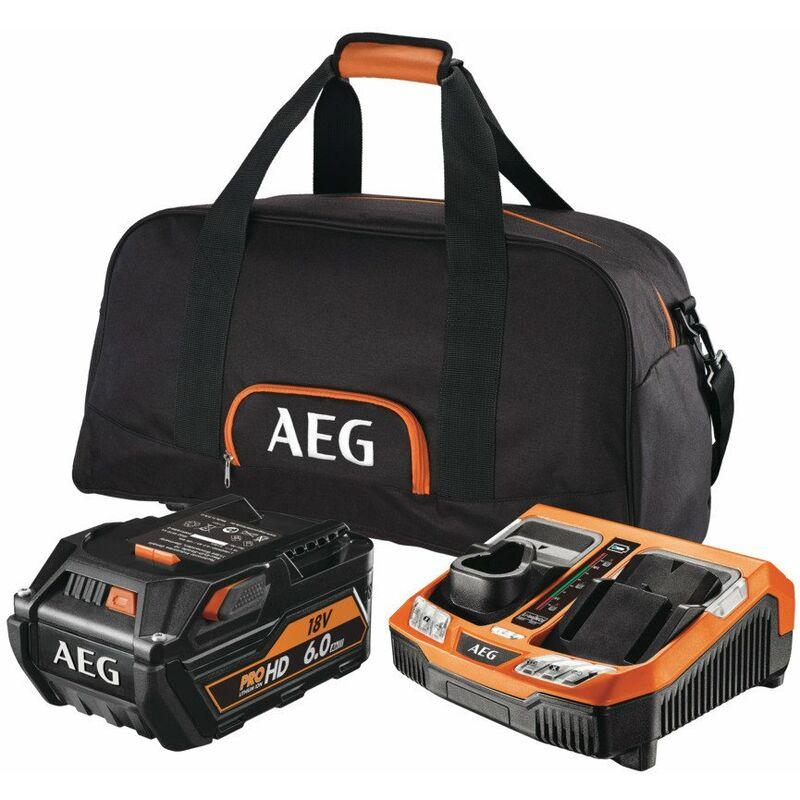 Pack Pro Lithium 6.0 Ah 18 V avec sac de transport - SETL1860RHDBLK - AEG