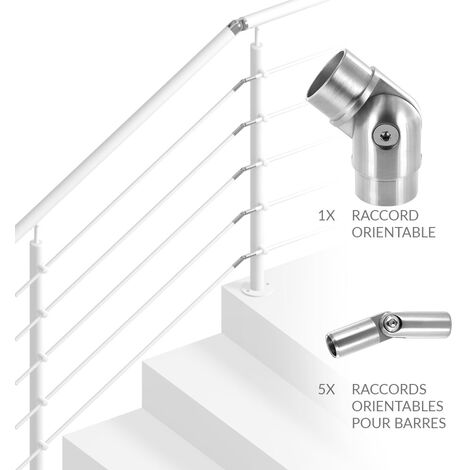 Pack Jonction d'Angle pour Garde-corps Escalier