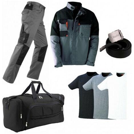 Pack Kavir: pantalon + veste + sac + ceinture + 3 T-shirts KAPRIOL - plusieurs modèles disponibles