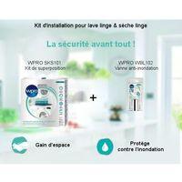 Pack Kit d'installation - Kit de superposition + Vanne anti-inondation Wpro