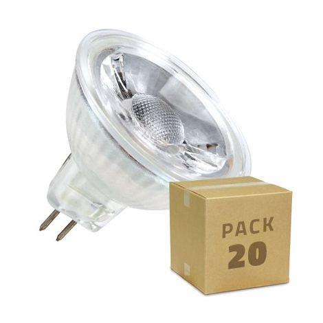 Lampade Led 220v.Pack Lampadine Led Gu5 3 Mr16 Cob Vetro 220v 45º 5w 20x2 01