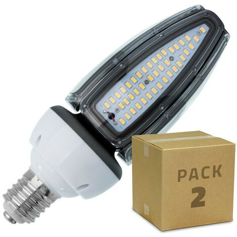 Pack Lámpara LED Alumbrado Público Corn E40 50W IP65 (2 un) Blanco Neutro 4500K - 5000K . - Blanco Neutro 4500K - 5000K