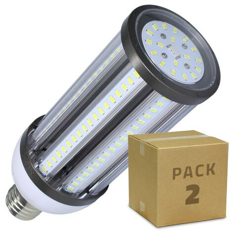 Pack Lámpara LED Alumbrado Público Corn E40 54W (2 un)