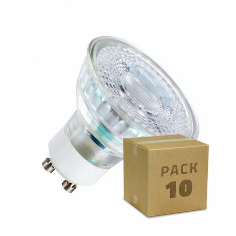 Pack Lámparas LED GU10 SMD Cristal 7W (10 un) Blanco Neutro 3800K - 4200K . - Blanco Neutro 3800K - 4200K