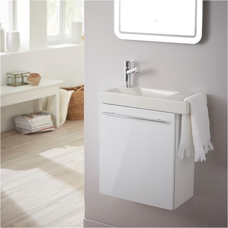Pack lave mains blanc + Lave mains + Robinetterie eau froide