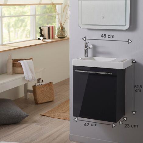 Pack lave-mains gris anthracite + Lave-mains en céramique + mitigeur