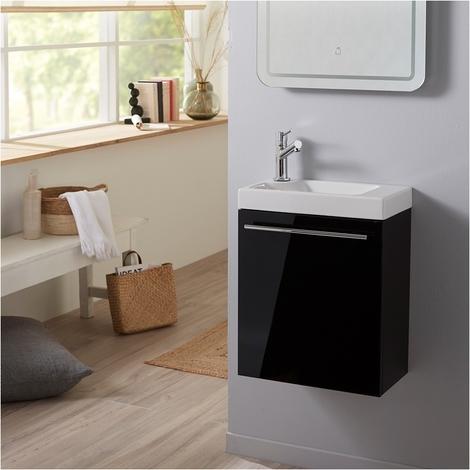 Pack Lave mains Noir + Mitigeur eau chaude/eau froide