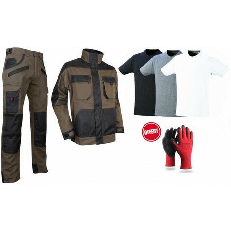 Pack LMA pantalon veste noir/marron Tshirts gants offerts - plusieurs modèles disponibles