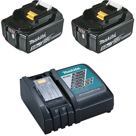 "main image of ""Pack MAKITA 2 batteries BL1850B + chargeur DC18RC - 197570-9"""