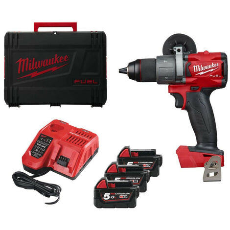 Pack MILWAUKEE M18 FUEL FDD2-503X perceuse-visseuse FDD2 - 3 batteries 5.0Ah - 1 chargeur rapide 4933471282
