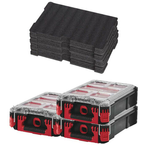 Pack MILWAUKEE PACKOUT 3 Organiseurs 5 casiers - 2 Inserts personnalisables
