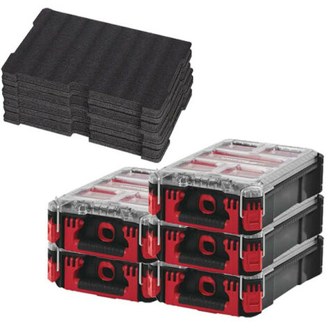 Pack MILWAUKEE PACKOUT 5 Organiseurs 5 casiers - 2 Inserts personnalisables