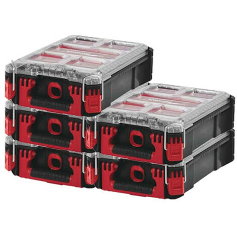Pack MILWAUKEE PACKOUT 5 Organiseurs 5 casiers