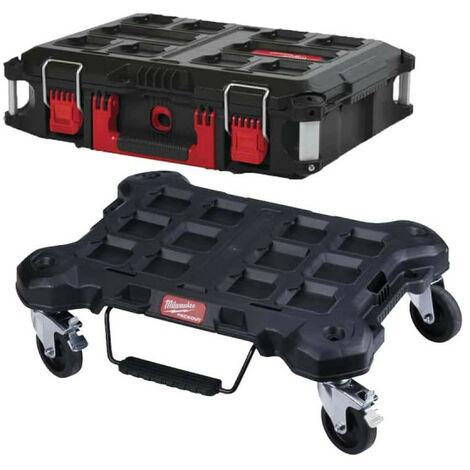 Pack MILWAUKEE PACKOUT Trolley plat - Coffret de transport 40L Taille 2