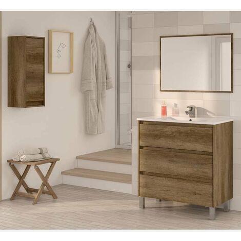 Pack Mobiliario Baño Dakota II con armario suspendido y lavamanos cerámico