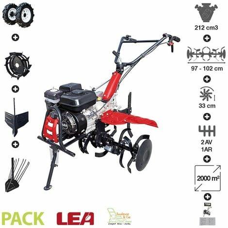 """main image of """"Pack motoculteur roues butteur arracheuse patate vitesses 2AV-1AR LEA LE42212-97W21 - Noir"""""""