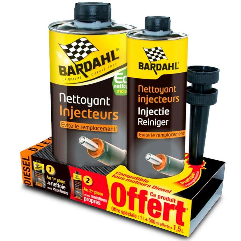 Pack Nettoyant injecteurs Diesel 1L + 500ml Offert - Bardahl