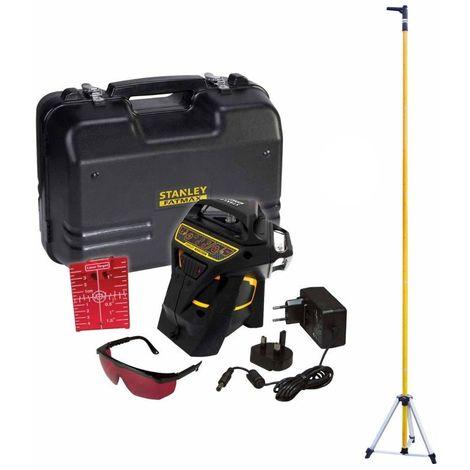 PACK Niveau laser Multiligne X3R 360° ROUGE+ Accessoires + Malette + Canne télescopique STANLEY