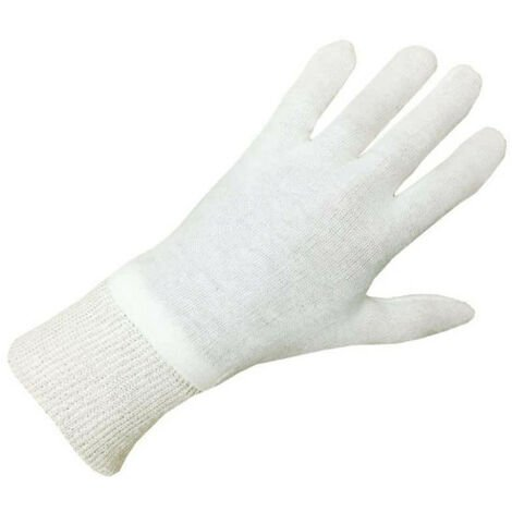 Pack of 10 pairs of beige cotton gloves Size XL / 10 EP 4105