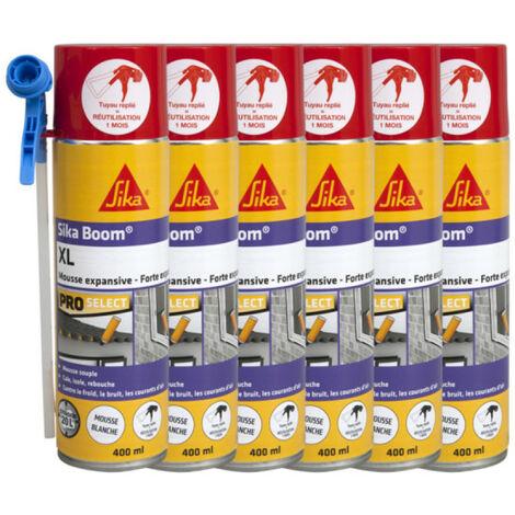 Pack of 12 sprayable polyurethane foam - SIKA Boom XL Gun Multiposition - 500ml - White
