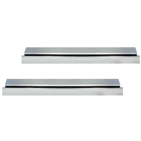Pack of 2 entrance door thresholds 93 cm with Klose Besser seal