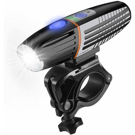 Pack of 2 Rechargeable Smart Bike Lights with Bike Light Sensing 400 Lumens 2200mAh