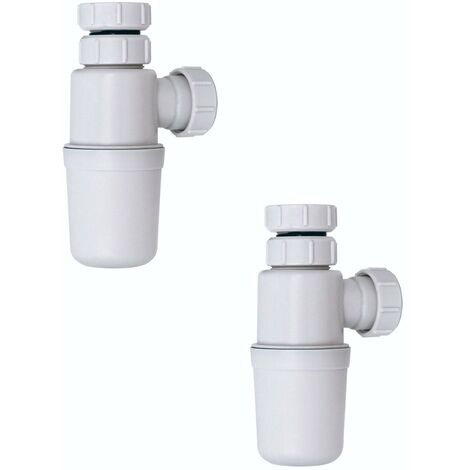 Pack of 2 vanity unit and counter top basin bottle traps