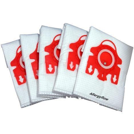 Pack of 5 Miele S4212 Plus Microfibre Vacuum Cleaner Dust Bags
