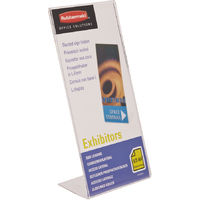 Pack of 6 (1/3 A4) Clear Plastic Free Standing Slanted Menu, Poster, Information Holders For Hotels and Companies