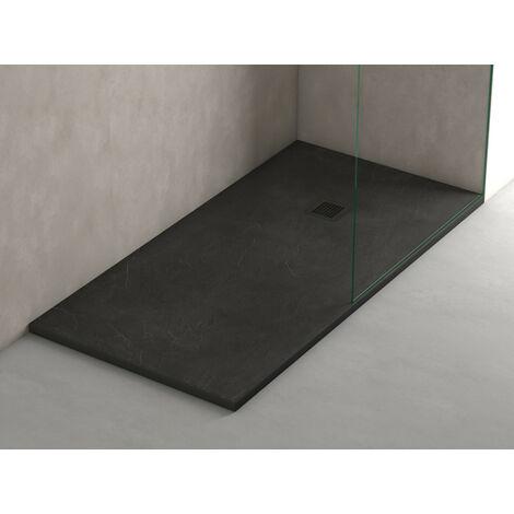 PACK OFERTA de Plato de ducha de resina antidezlizante + Mampara frontal con cristal de seguirdad  4mm