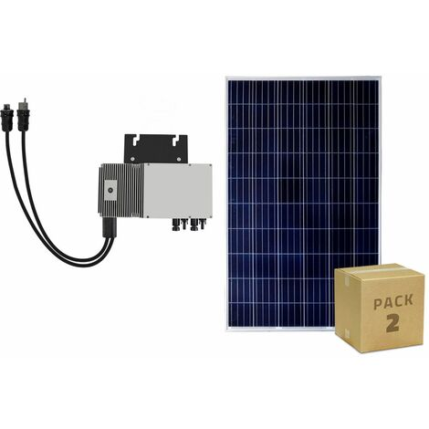 Pack Paneles Fotovoltaicos Policristalinos 320W BYD Clase A + Microinversores 600 W