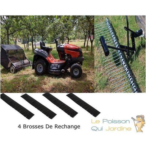 Pack Peigne Aérateur + Balai Ramasse Feuilles 120cm + Lot De 4 Brosses