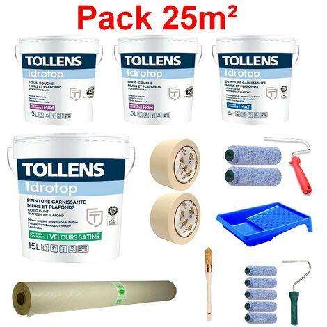 Pack Peintures TOLLENS + Accessoires pour 25m²