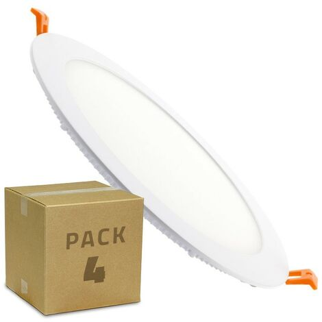 Pack Placa LED Circular SuperSlim 12W (4 un)