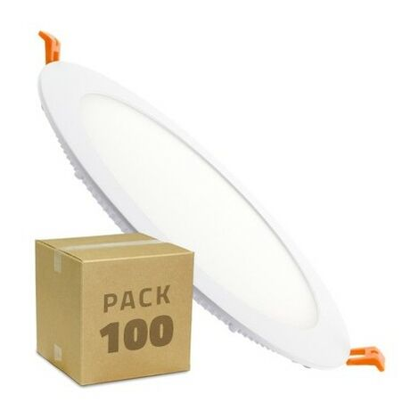 Pack Placa LED Circular SuperSlim 18W (100 un)