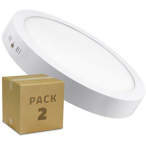 Pack Plafón LED 24W Circular (2 un)