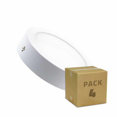 Pack Plafón LED Circular 12W (4 un) Blanco Frío 6000K - 6500K