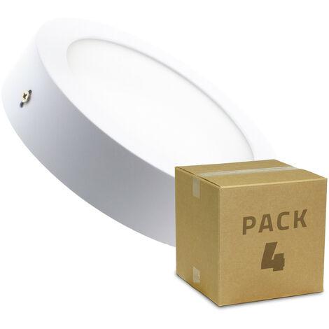 Pack Plafón LED Circular 12W (4 un)