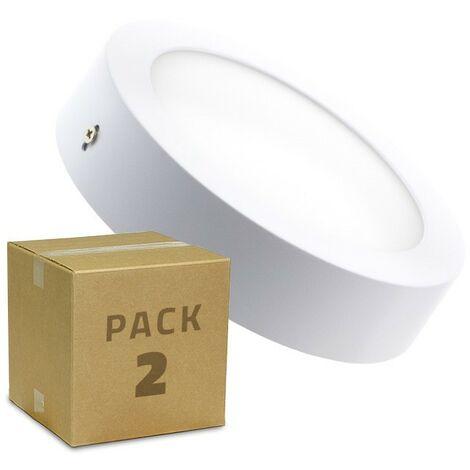Pack Plafón LED Circular 18W (2 un)