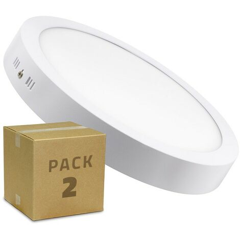 Pack Plafón LED Circular 24W (2 un)