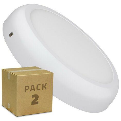Pack Plafón LED Circular Design 18W White (2 un)