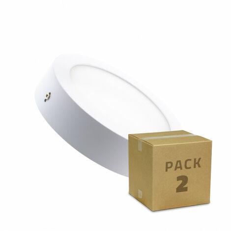 Pack Plafones LED Circular 18W (2 un)