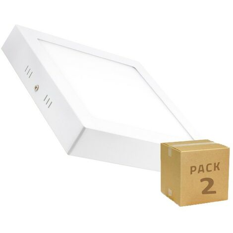 Pack Plafones LED Cuadrado 18W (2 un)