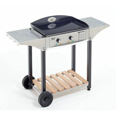Pack Plancha Électrique Roller Grill 60 x 40 cm + Desserte