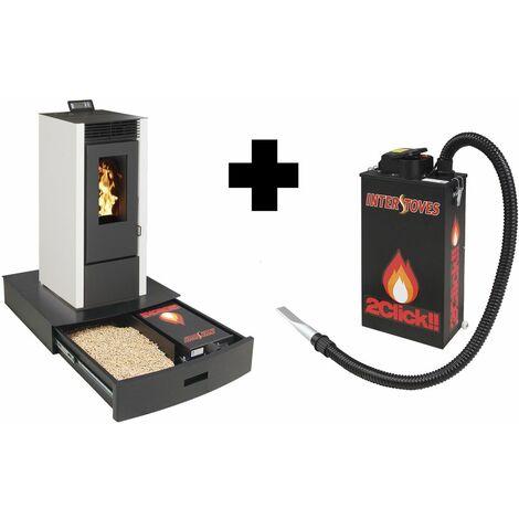 Pack Podium+ range granules, b�ches et aspirateur et Aspirateur � cendres ASPI SLIM 2CLICK 18 litres 1000W