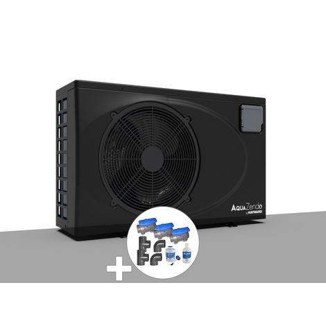Pack pompe à chaleur 7,33 kW Inverter AquaZendo by Hayward + Kit by-pass