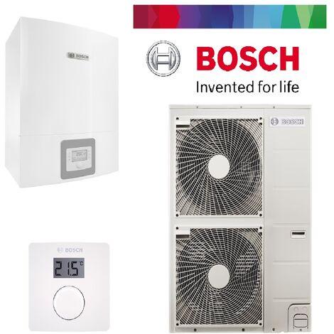 Pack pompe à chaleur BOSCH split air/eau 12 KW COMPRESS 3000AWS complète