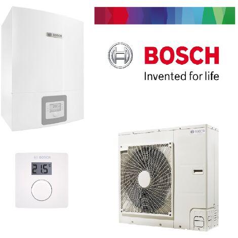 Pack pompe à chaleur BOSCH split air/eau 8 KW COMPRESS 3000AWS complète