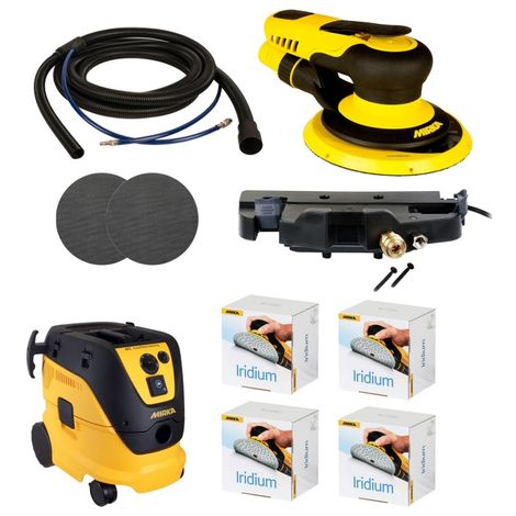 Pack ponceuse pros extraction 650 cv 5.00 mm -Mirka