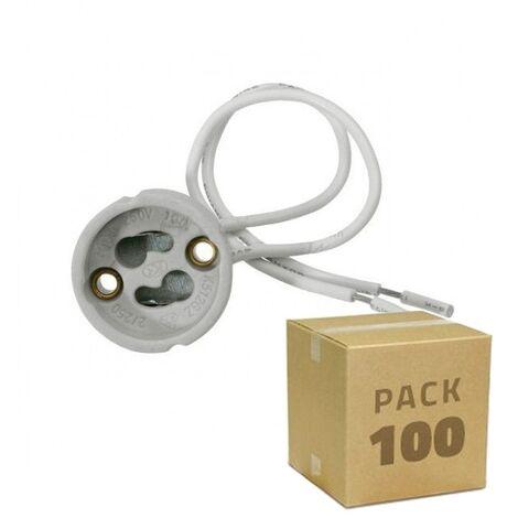 Pack Portalámparas GU10 (100 un) Blanco